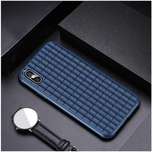 Ipaky waffle elastyczne etui pokrowiec iphone xs max niebieski