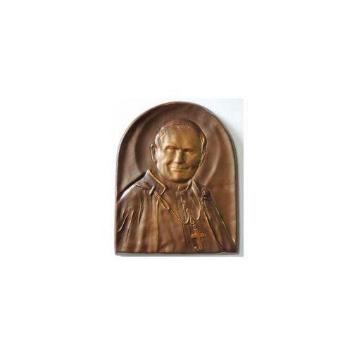 Święty Papież Jan Paweł II, płaskorzeźba w skórze na prezent - PD-2