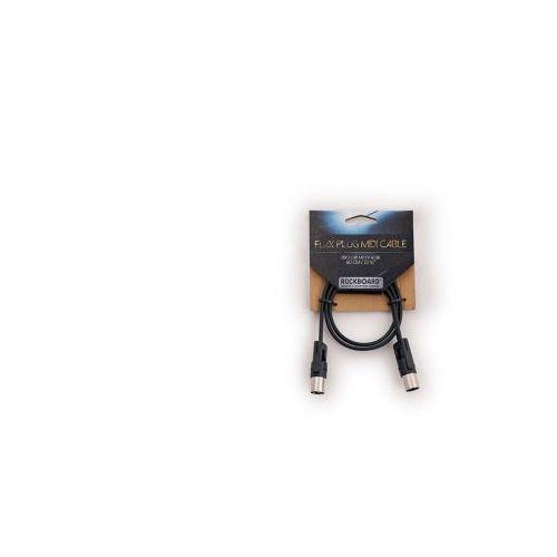 Rockboard flax plug midi cable, 60 cm / 23 5/8″, black