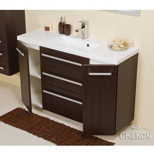Gante Szafka łazienkowa z umywalką 120/39/c3 fokus wenge mat