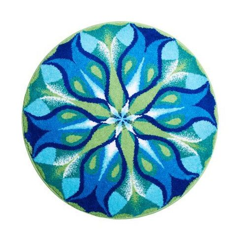 Grund mandala cichy blask, niebieska zielona, ø 60 cm