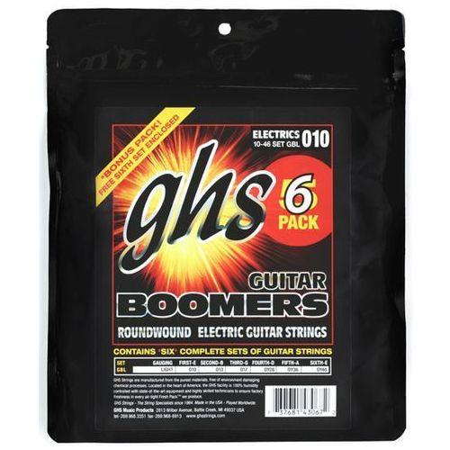 GHS Guitar Boomers struny do gitary elektrycznej, Light,.010-.046, 6-Pack