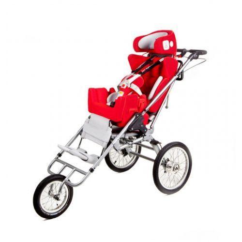Multifunkcyjny rehabilitacyjny fotelik samochodowy, wózek i opcjonalnie przyczepka rowerowa dla niepełnosprawnych do 75kg carrot 3 multiroller marki Japan