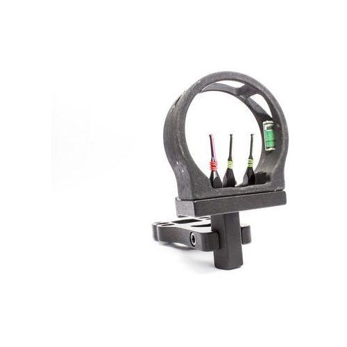 Celownik myśliwski 3-pinowy światłowodowy z poziomiczką do łuku marki Poe lang