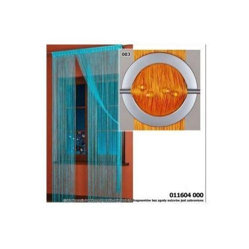 Firanka makarony 011604 wymiar 250x145 / Pomarańcz z koralikami