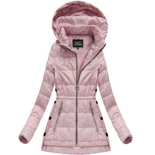 a0ba8b886ecff Speed.a Pikowana kurtka z kapturem pudrowy róż (w716-20) - różowy 119,90 zł Pikowana  kurtka wiosenno-jesienna z kapturem. Lekko ocieplona.