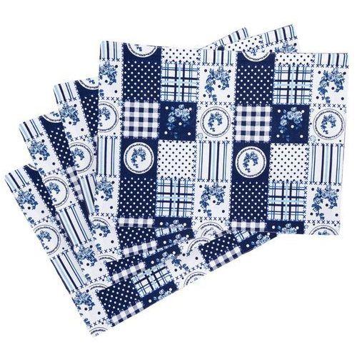 Trade Concept Podkładka Country patchwork niebieski, 33 x 45 cm, 4 szt.