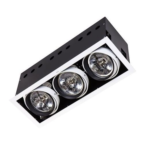 Italux Lampa sufitowa oprawa downtlight arlo wh 3x75w mr-111 srebrna dl-723aplusdl-723hd-ar111/wl