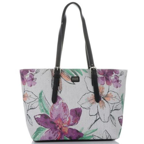 25b6f50d2cbc4 Modne torebki damskie w rozmiarze xl wykonane z wysokiej jakości skóry  ekologicznej marki wzór kwiatów multikolor fioletowe (kolory) marki David  jones 119 ...