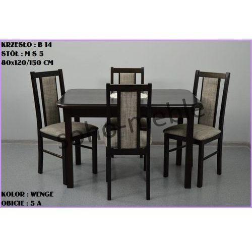ZESTAW ZEFIR 4 KRZESŁA B 14 + STÓŁ M S 5 80x120/150 CM - produkt z kategorii- zestawy mebli do salonu