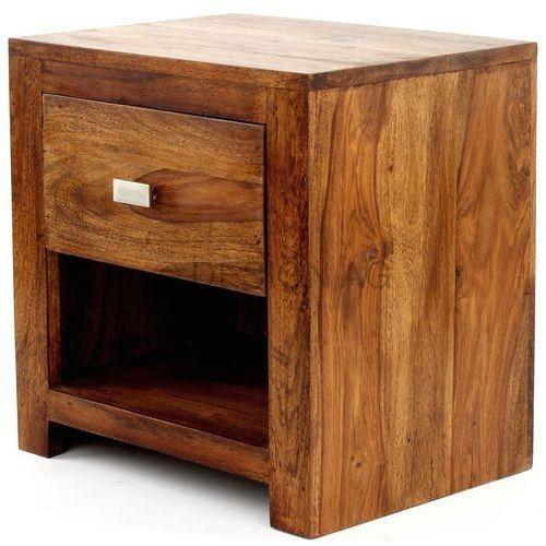 Machina Meble Lagos Stolik Nocny Drewno Sheesham 40 x 30 x 40 cm - WL1-368 - produkt dostępny w sfmeble.pl