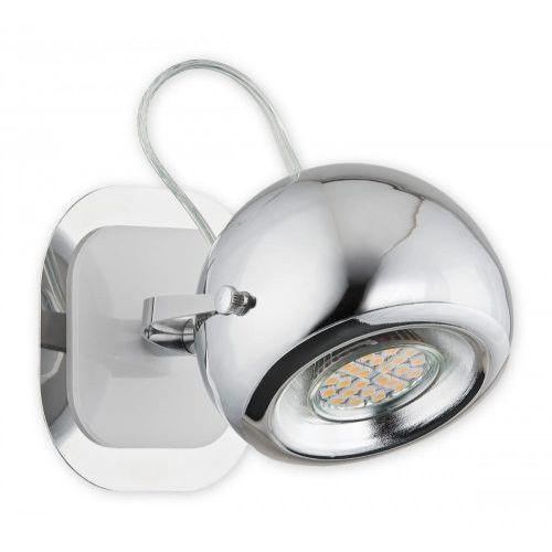 Lemir Geos kinkiet / spot 1 pł. / chrom + biały, dodaj produkt do koszyka i uzyskaj rabat -10% taniej!