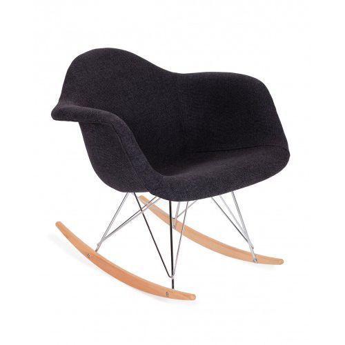 Fotel bujany PLUSH grafitowy - podstawa bukowa, PC-018KS.FC-035.RAR
