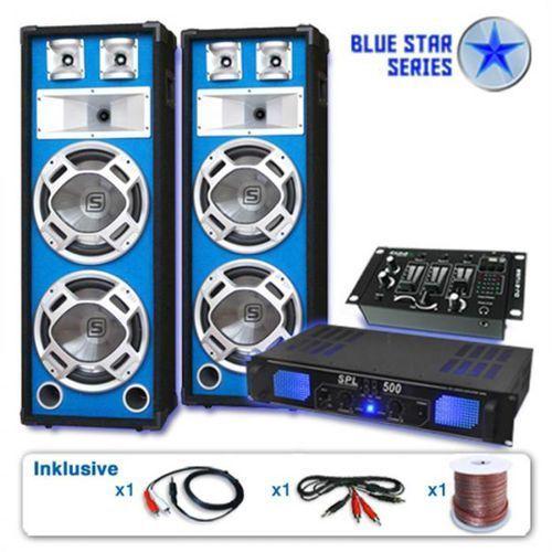 """Blue Star Series """"Bassveteran USB"""" zestaw PA 1200W"""