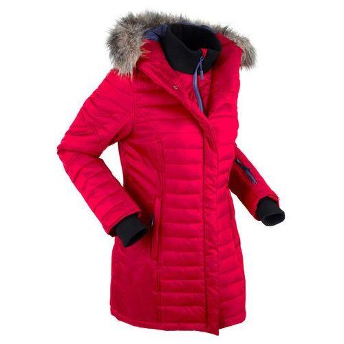 Długa kurtka outdoorowa pikowana ciemnoczerwony, Bonprix, 38-52