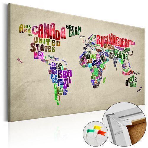 Obraz na korku - Światowe tournée (EN) [Mapa korkowa]