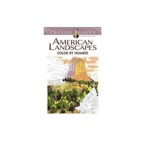 Creative Haven American Landscapes Color by Number Coloring Book (9780486798554)