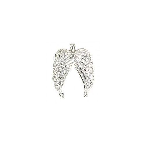 Serce skrzydła anioła z cyrkoniami z łańcuszkiem marki Durango
