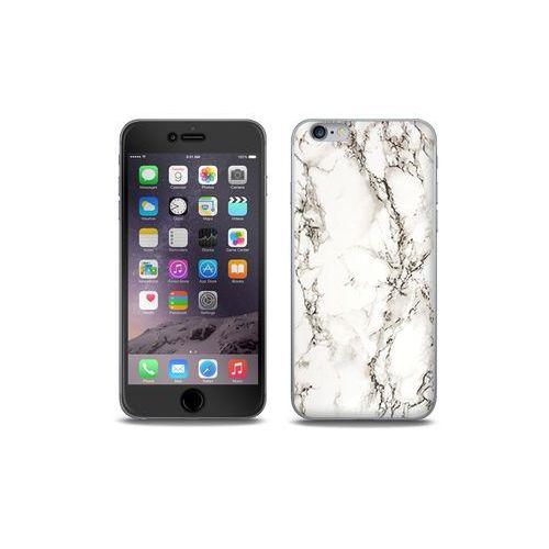 Apple iPhone 6s - etui na telefon Full Body Slim Fantastic - biały marmur, kolor biały