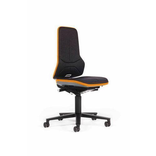 Obrotowe krzesło do pracy ze szkieletem z aluminium, na rolkach, materiał, elast marki Bimos
