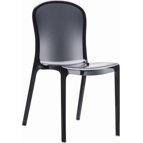 Krzesło Uma Black transparent, kolor czarny