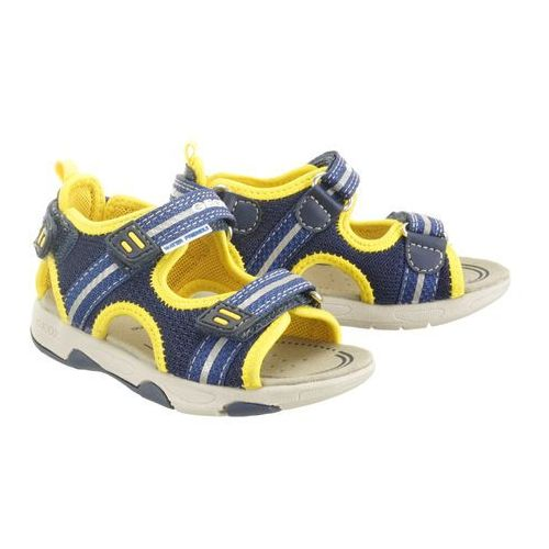 Geox b920fa sand.multy 01415 c0657 navy/yellow, sandały dziecięce, rozmiary: 22-23