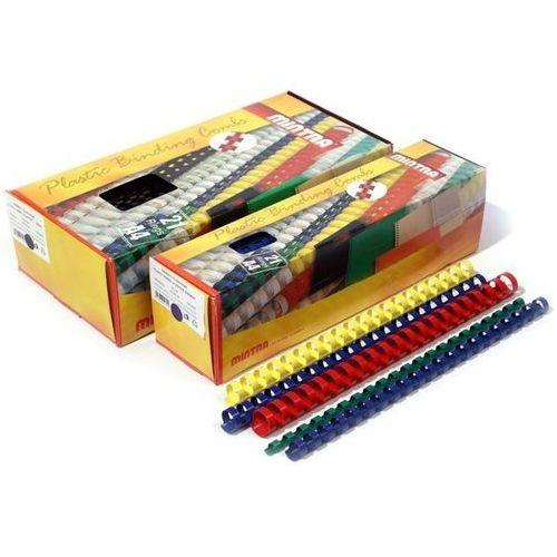Grzbiety plastikowe do bindowania 12,5mm, 100szt., NB-839