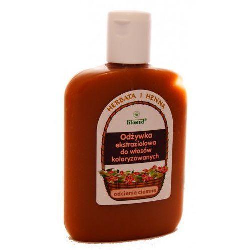 FITOMED Odżywka ekstraziołowa do włosów koloryzowanych ciemnych włosy ciemne Herbata i Henna 200ml (5907504400334)