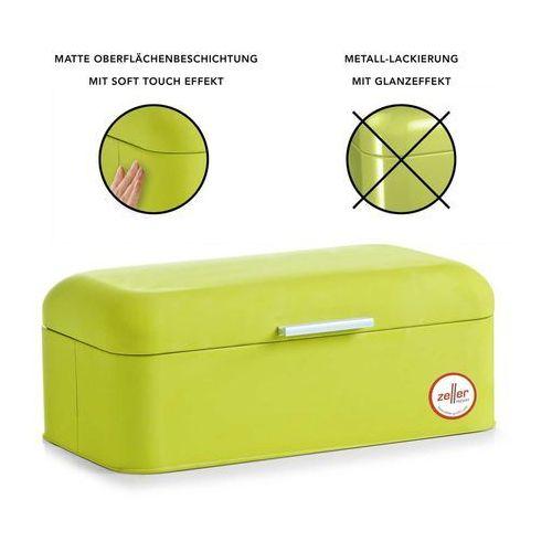 Zeller Chlebak metalowy, pojemnik na chleb, pieczywo, bułki - chlebak 43x23x17 cm, rubber