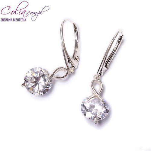Kolczyki cyrkonie crystal w srebrze, produkt marki Colia.com.pl