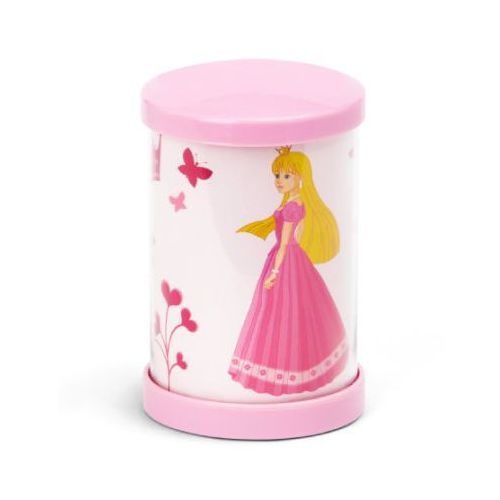 BRILLIANT Lampka na biurko mała Princess, różowa LED