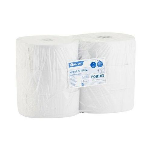 Papier toaletowy Merida Optimum, 2 warstwy, makulatura - 6 rolek
