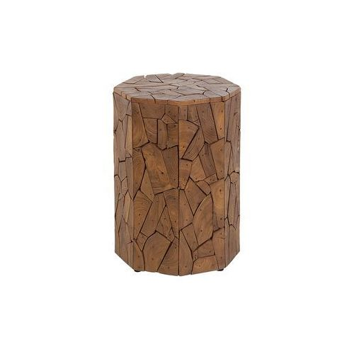 Beliani Stolik drewno tekowe jarvie