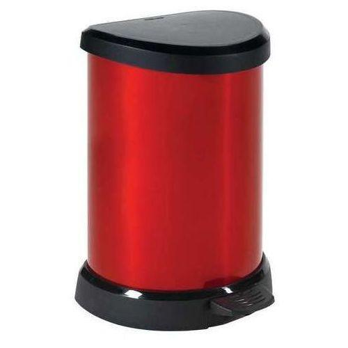Kosz na śmieci metalizowany 20 l czerwony (kosz na śmieci) od www.dobregarnki.pl