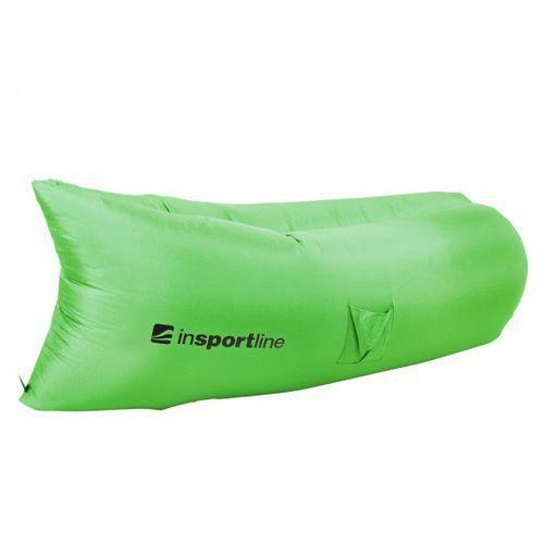 Dmuchany leżak lazy bag na lato inSPORTline Sofair materac fotel - Kolor Zielony