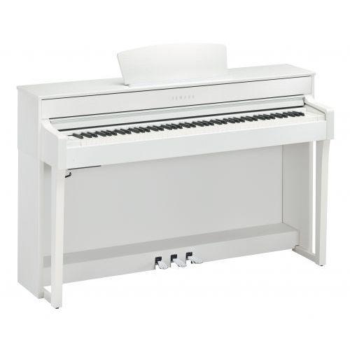 Yamaha clp 635 wh clavinova pianino cyfrowe (kolor: white / biały) + ława yamaha + słuchawki yamaha hph 100 wh