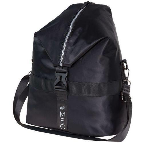 Plecak 2w1 damski pcu250 - głęboka czerń marki 4f