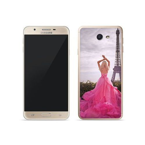 Samsung Galaxy J7 Prime - etui na telefon Foto Case - różowa sukienka, kolor różowy
