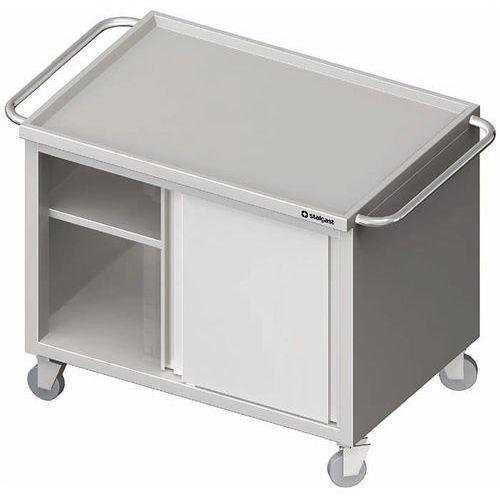 Wózek z szafką drzwi suwane 1200x600x850 mm | STALGAST, 982046120