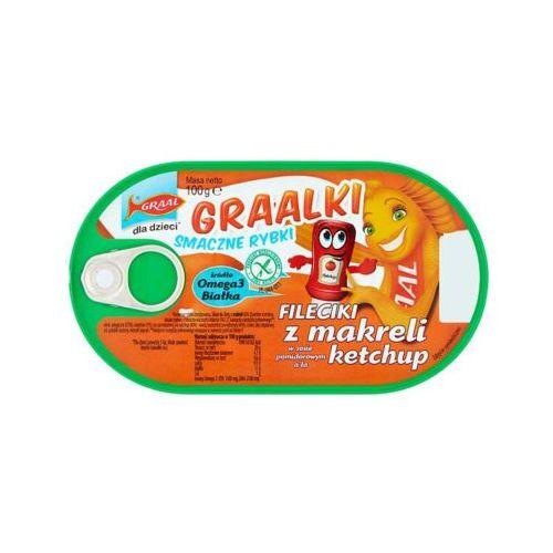 100g graalki fileciki z makreli w sosie pomidorowym a'la ketchup dla dzieci marki Graal