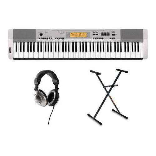 Casio cdp-230 sr pianino cyfrowe ze statywem i słuchawkami