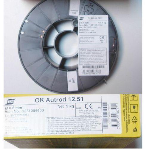 DRUT SPAWALNICZY OK AUTROD 12.51 ø 0,8 WAGA 5 KG, towar z kategorii: Pozostałe narzędzia spawalnicze