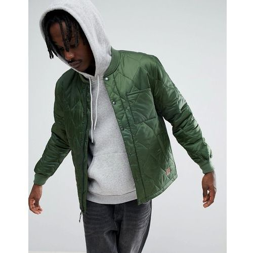 crawford quilted jacket in relaxed fit - green, Brixton