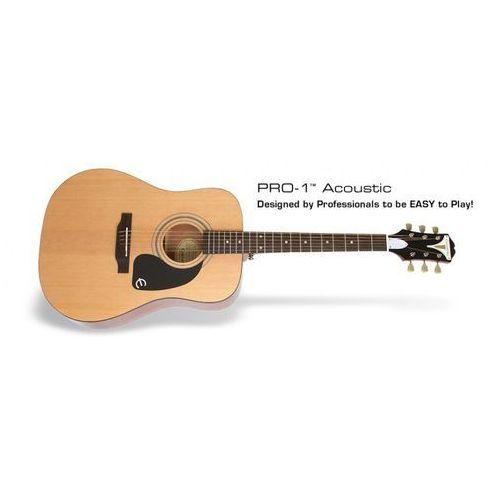 pro 1 acoustic na natural gitara akustyczna marki Epiphone