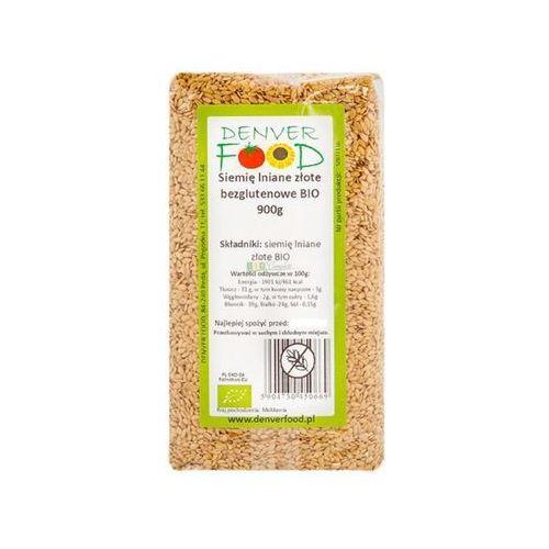 Len Złoty Bezglutenowy (Siemię Lniane Złote) BIO 900 g Denver Food
