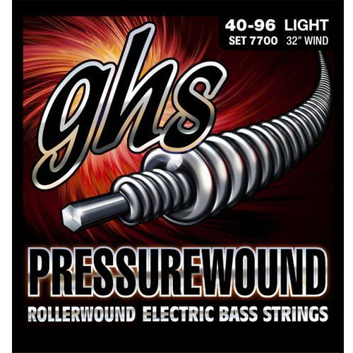 pressurewound struny do gitary basowej, 5-str. light,.040-.096, short scale marki Ghs