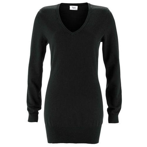 Długi sweter czarny marki Bonprix