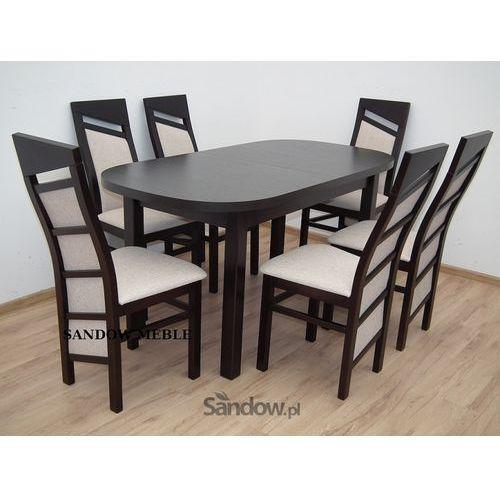 tani stół, rozkładany 80/160/200 z 6 drewnianymi krzesłami promocja - produkt dostępny w Sandow.com