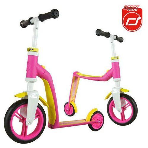 - Highwaybaby 2w1 hulajnoga i rowerek 1+ Pink, Scootandride