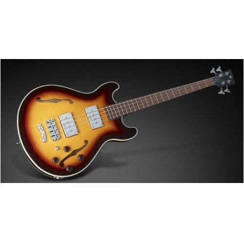 Rockbass star bass 4-string, vintage sunburst high polish, fretted - medium scale gitara basowa